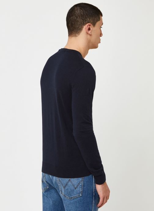 Vêtements Scotch & Soda Cotton cashmere crewneck knit Bleu vue portées chaussures