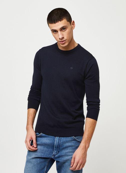 Vêtements Scotch & Soda Cotton cashmere crewneck knit Bleu vue droite