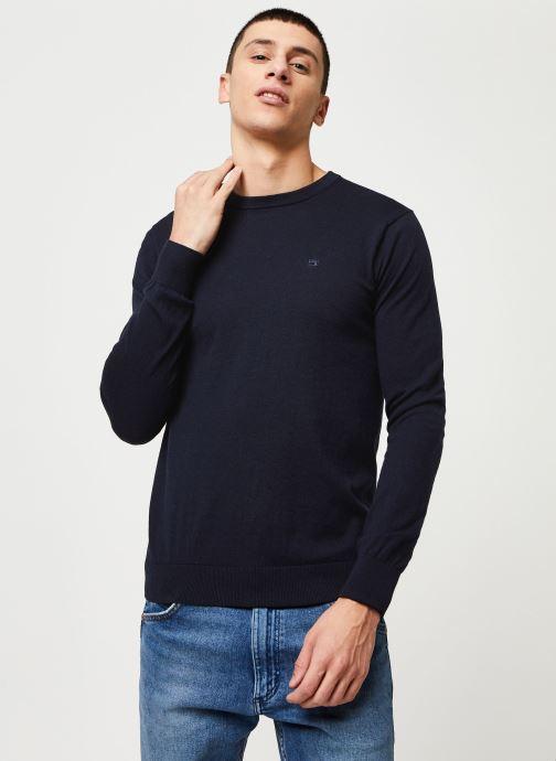 Vêtements Scotch & Soda Cotton cashmere crewneck knit Bleu vue détail/paire