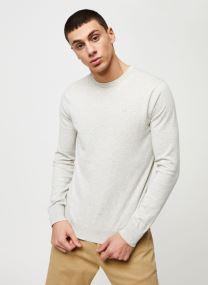 Cotton cashmere crewneck knit