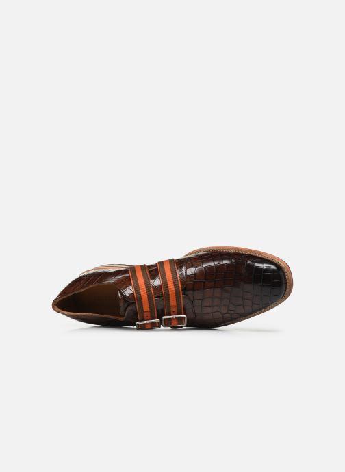 Schuhe mit Schnallen Melvin & Hamilton Eddy 26 braun ansicht von links