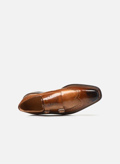 Zapato con hebilla Melvin & Hamilton Marvin 8 Marrón vista lateral izquierda