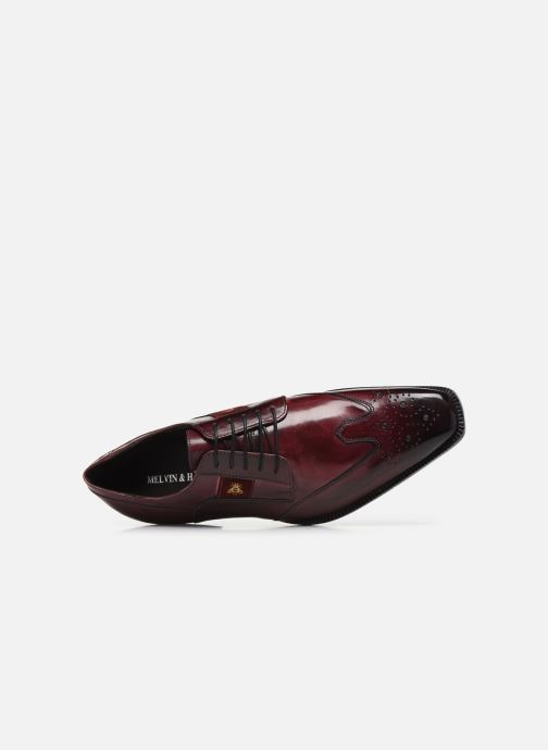 Lace-up shoes Melvin & Hamilton Woody 6 Burgundy view from the left