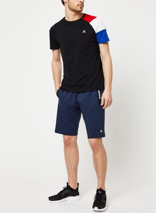 Vêtements Le Coq Sportif Ess Short Regular N°3 M Bleu vue bas / vue portée sac