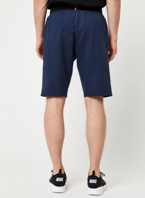 Vêtements Le Coq Sportif Ess Short Regular N°3 M Bleu vue portées chaussures