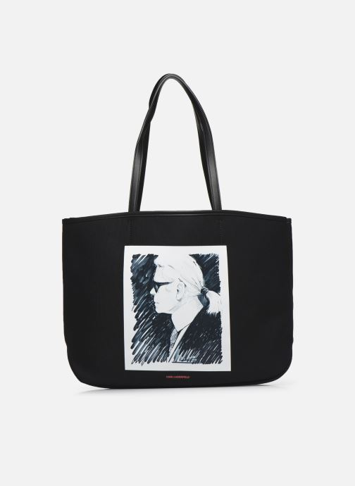 Handtassen Karl Lagerfeld Karl Legend Canvas Tote Zwart detail