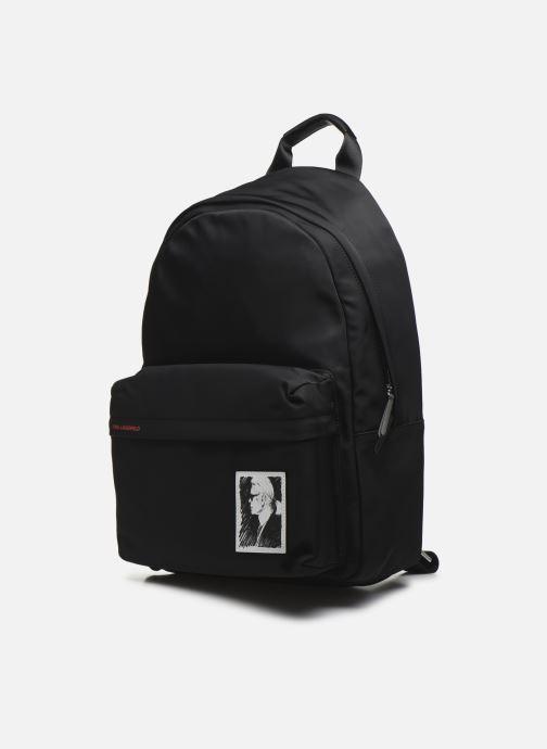 Zaini Karl Lagerfeld Karl Legend Nylon Backpack Nero modello indossato