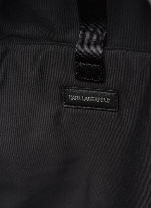 Sacs à dos Karl Lagerfeld Karl Legend Nylon Backpack Noir vue derrière