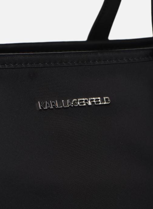 Sacs à main Karl Lagerfeld K/Ikonik Nylon Tote Noir vue gauche
