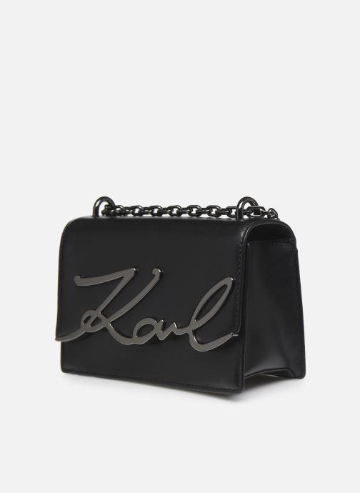 Sacs à main Karl Lagerfeld K/Signature Small Shoulderbag Noir vue portées chaussures