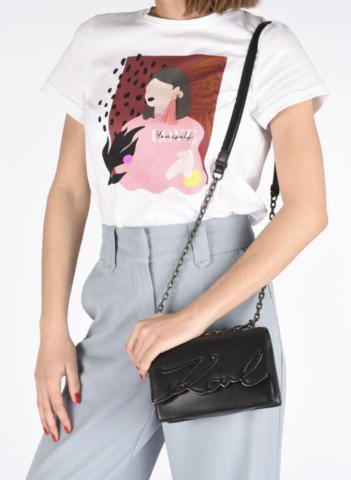 Sacs à main Karl Lagerfeld K/Signature Small Shoulderbag Noir vue bas / vue portée sac
