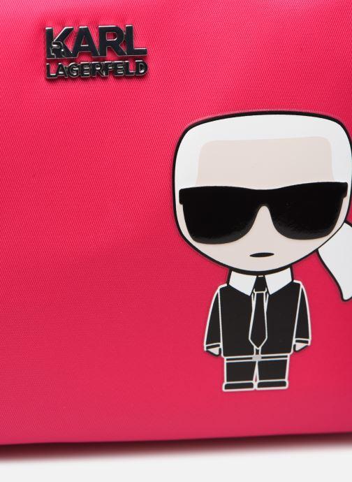 Petite Maroquinerie Karl Lagerfeld K/Ikonik Washbag Karl Rose vue gauche