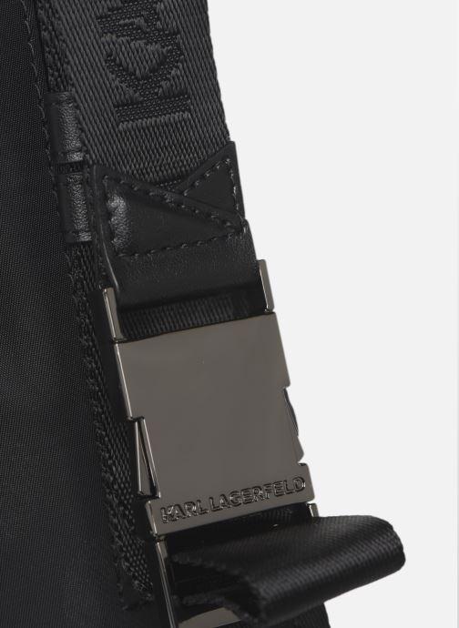 Borse Karl Lagerfeld Karl X Carine Small Bumbag Dot Nero immagine sinistra