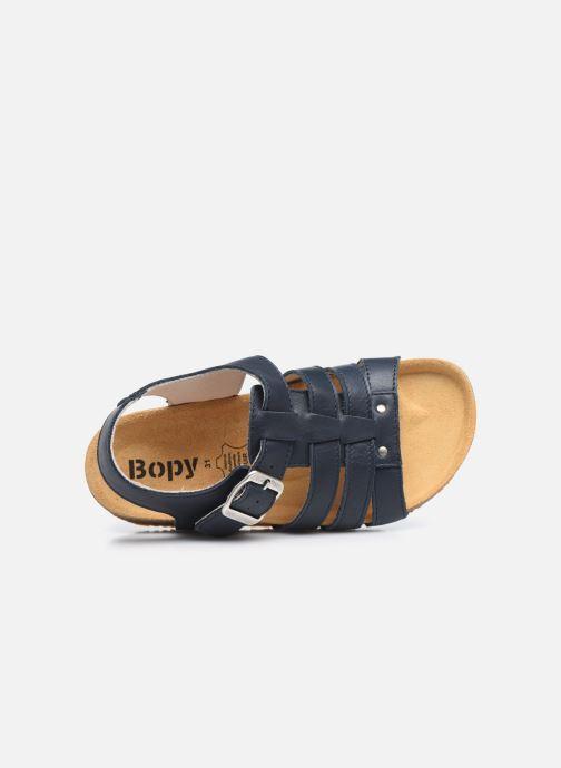 Sandalen Bopy Eberny blau ansicht von links