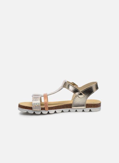 Sandales et nu-pieds Bopy Efeuille Or et bronze vue face