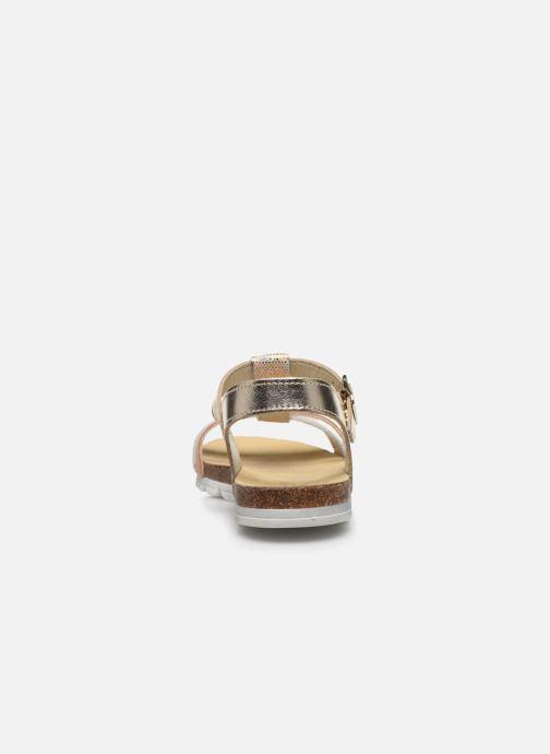 Sandales et nu-pieds Bopy Efeuille Or et bronze vue droite