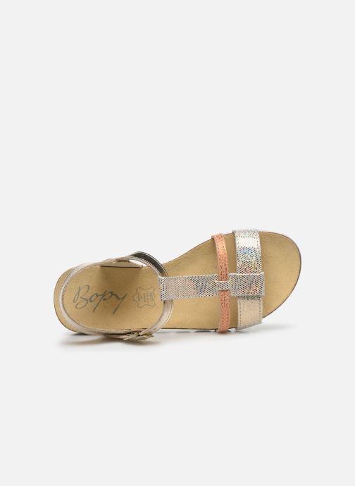 Sandales et nu-pieds Bopy Efeuille Or et bronze vue gauche