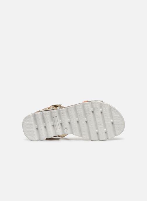 Sandales et nu-pieds Bopy Efeuille Or et bronze vue haut