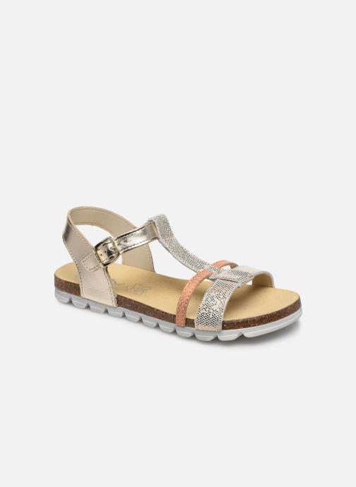 Sandales et nu-pieds Bopy Efeuille Or et bronze vue détail/paire