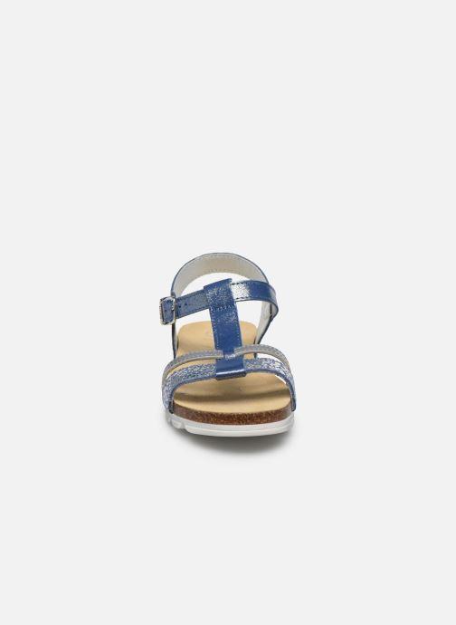 Sandales et nu-pieds Bopy Epingle Bleu vue portées chaussures