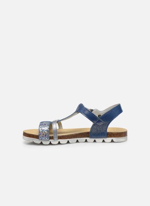 Sandalias Bopy Epingle Azul vista de frente