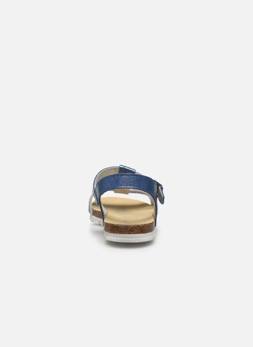 Sandalias Bopy Epingle Azul vista lateral derecha