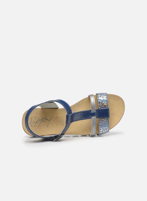 Sandales et nu-pieds Bopy Epingle Bleu vue gauche