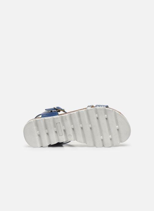 Sandales et nu-pieds Bopy Epingle Bleu vue haut