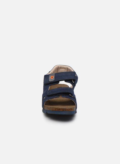Sandales et nu-pieds Bopy Erevol Bleu vue portées chaussures