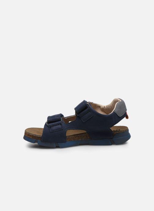Sandales et nu-pieds Bopy Erevol Bleu vue face