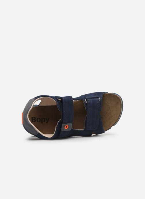 Sandales et nu-pieds Bopy Erevol Bleu vue gauche