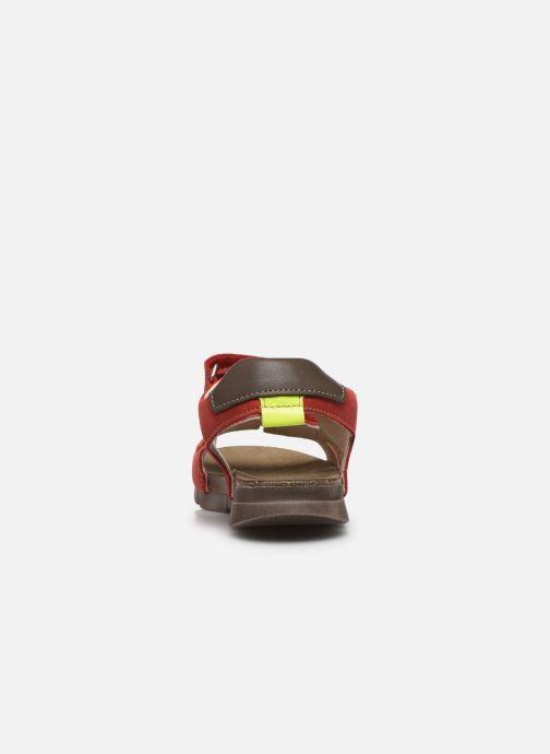 Sandalias Bopy Erevol Rojo vista lateral derecha