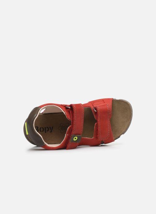 Sandali e scarpe aperte Bopy Erevol Rosso immagine sinistra