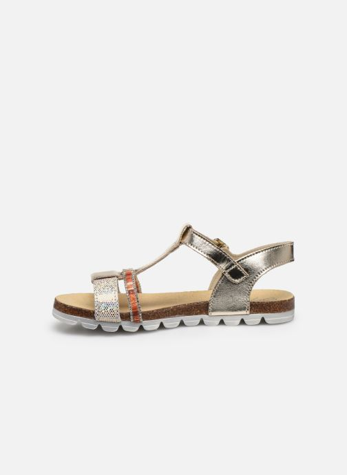 Sandales et nu-pieds Bopy Eskiss Or et bronze vue face