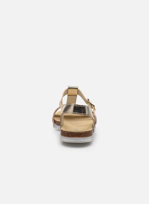 Sandales et nu-pieds Bopy Eskiss Or et bronze vue droite