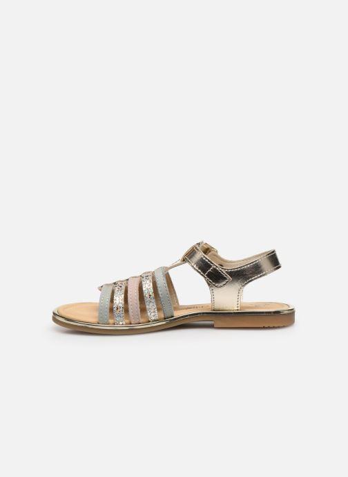 Sandales et nu-pieds Bopy Exel Or et bronze vue face