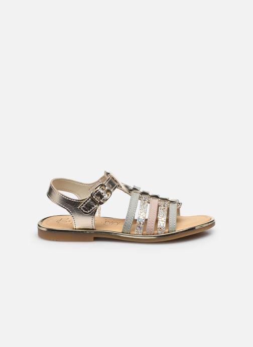 Sandales et nu-pieds Bopy Exel Or et bronze vue derrière