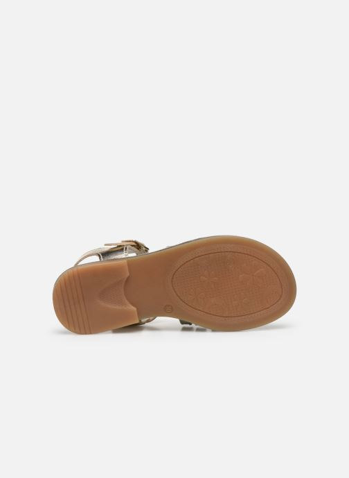 Sandales et nu-pieds Bopy Exel Or et bronze vue haut