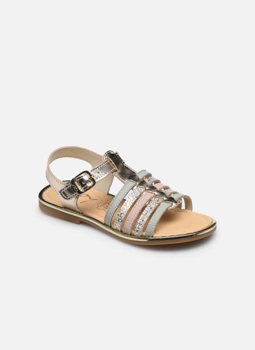 Sandales et nu-pieds Bopy Exel Or et bronze vue détail/paire