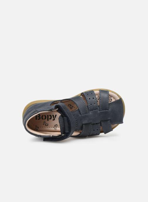 Sandalias Bopy Rabano Azul vista lateral izquierda