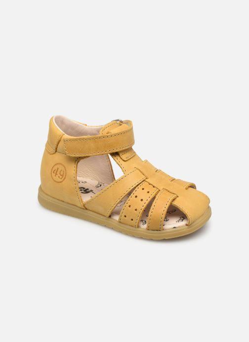 Sandales et nu-pieds Bopy Rabano Jaune vue détail/paire