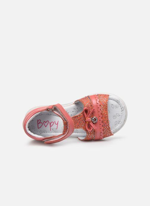Sandales et nu-pieds Bopy Raya Orange vue gauche
