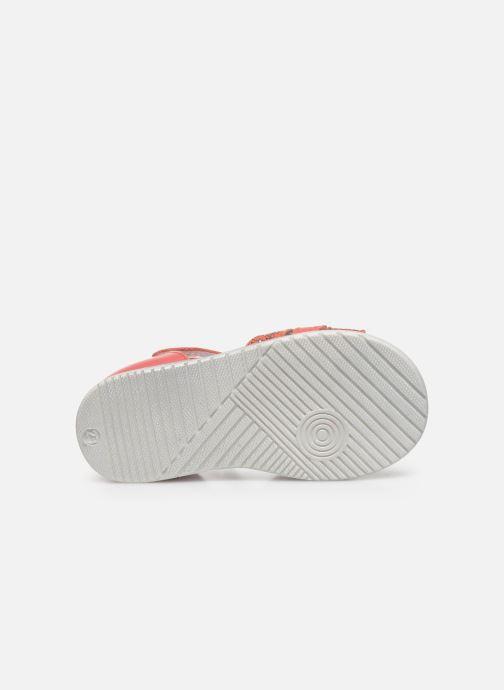 Sandales et nu-pieds Bopy Raya Orange vue haut