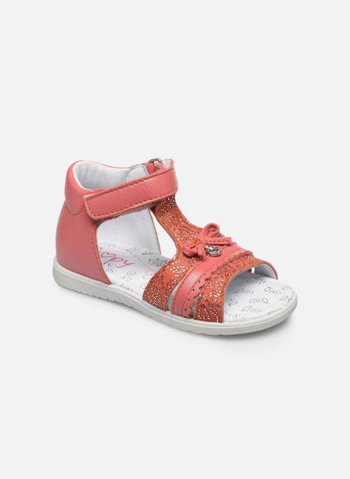 Sandales et nu-pieds Bopy Raya Orange vue détail/paire