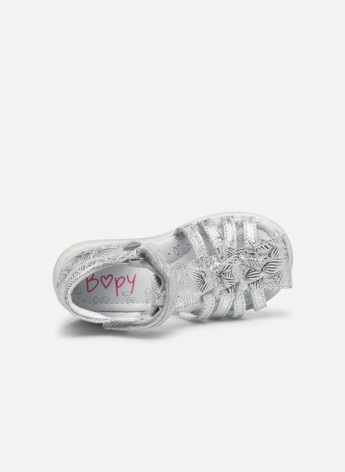 Sandales et nu-pieds Bopy Rebelote Argent vue gauche