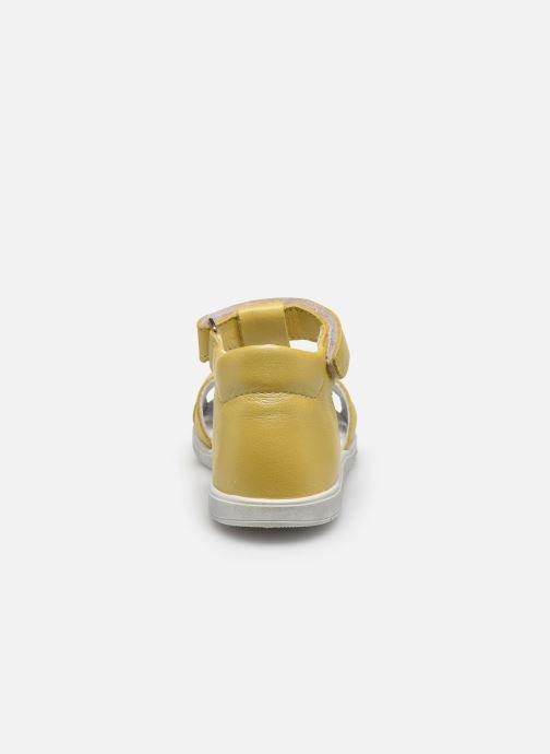 Sandales et nu-pieds Bopy Regalad Jaune vue droite