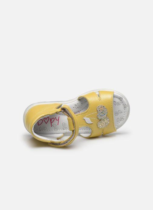 Sandales et nu-pieds Bopy Regalad Jaune vue gauche