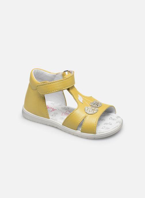 Sandales et nu-pieds Bopy Regalad Jaune vue détail/paire