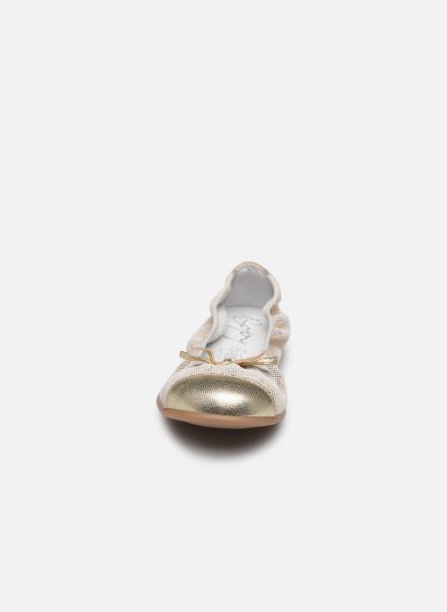 Ballerines Bopy School Or et bronze vue portées chaussures