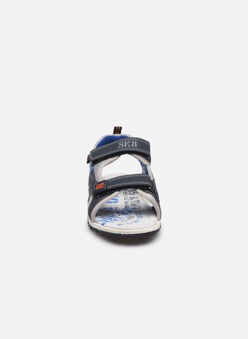 Sandales et nu-pieds Bopy Taxeo Bleu vue portées chaussures